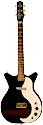 Danelectro 3011, black, finish, white pickguard, 1 lipstick style pickup, 1965