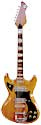 Kay 355 Titan Cronado 1965 2 Kleenex box pickups, natural finish double cutaway, rear input, Bigsby