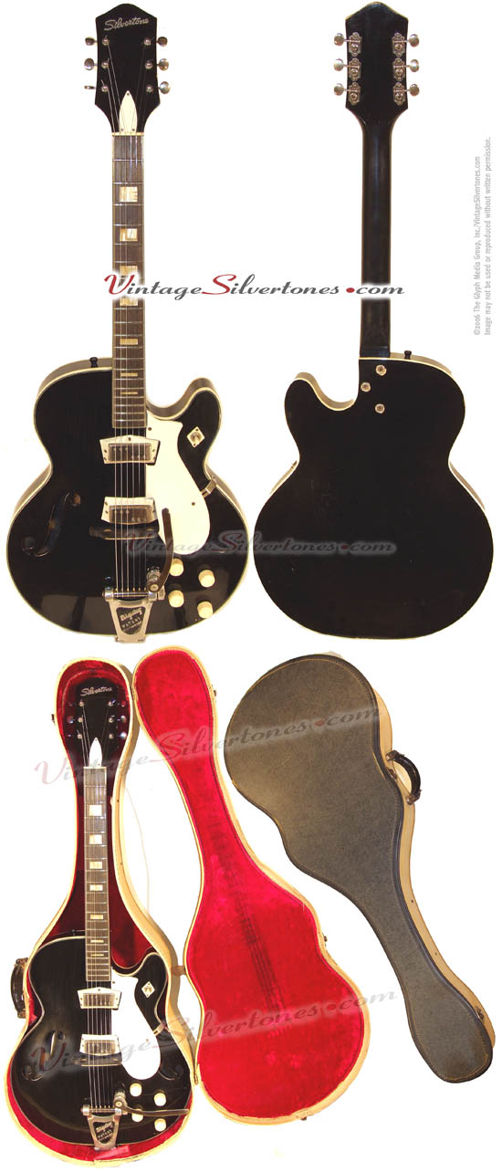 Silvertone 1446L - Harmony Semi-Hollow Body, 2 mini P90 Gibson pickups made in Chicago IL 1965