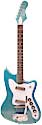 harmony bobcat metal flake bleu finish 2 pickups 2014