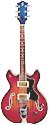 JG electric guitar 2 pick up made in USA circa19 redburst double cutaway amp hollow body tremolo tailpiece