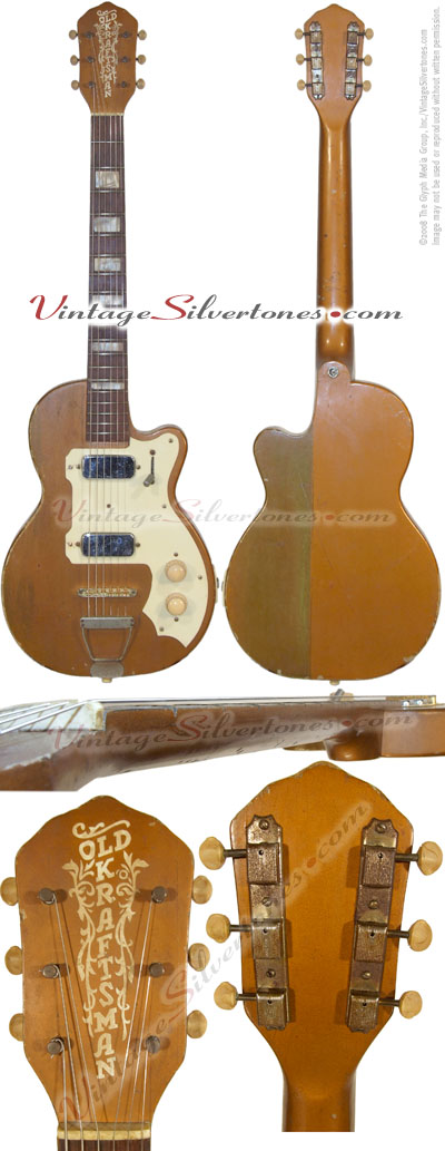 Kay - Old Kraftsman - K142, 2pu, copper, 1957, solid body, neck thru, made in Chicago, IL