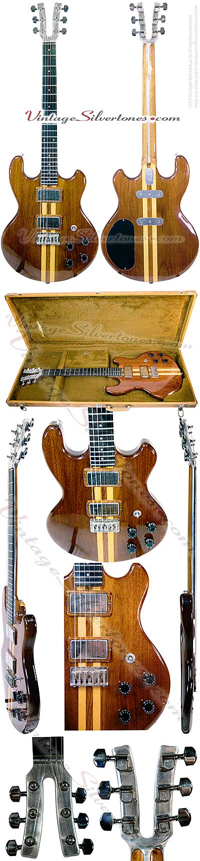 Kramer 450g-Neptune, NJ 2 pickup, electric guitar, 1978, natural finish, walnut and maple body, double cutaway