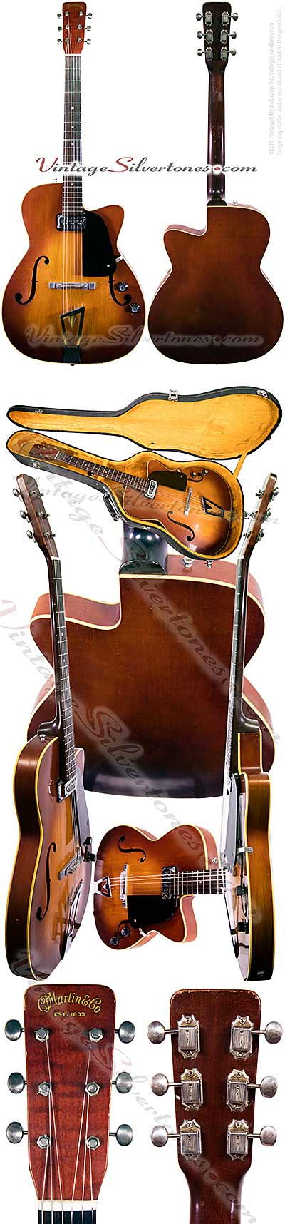 Martin F50 - single pickup tobacco-burst, semi-hollow archtop guitar 1961