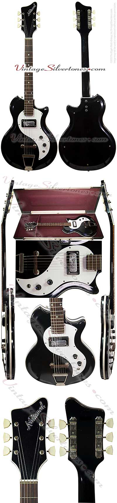 National Varsity 66 N466- semi-hollow body electric guitar 1 pickup, made in Chicago 1964 res-o-glass