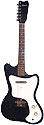 Silvertone 1451-Danelectro-made 1 pickup, electric guitar amp in case, 1966, black