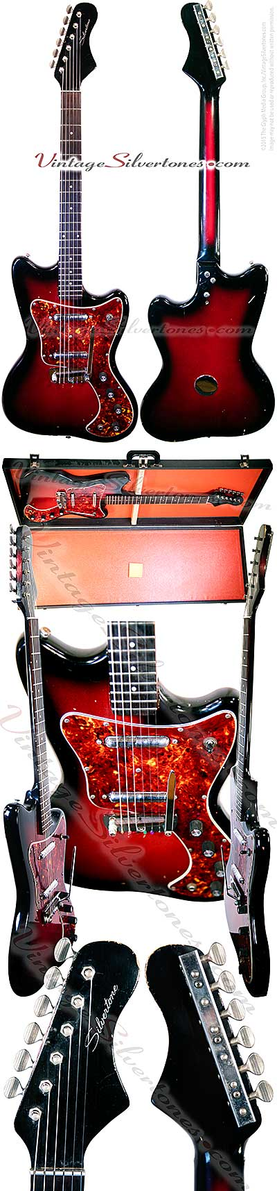 Silvertone - Danelectro-made - 1452 solid body electric guitar, tortoise shell pickguard, circa 1965