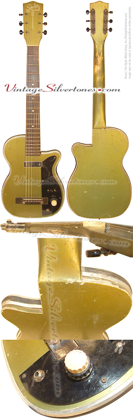 Silvertone-Harmony - model H42-Newport Metallic Green solid body electric guitar