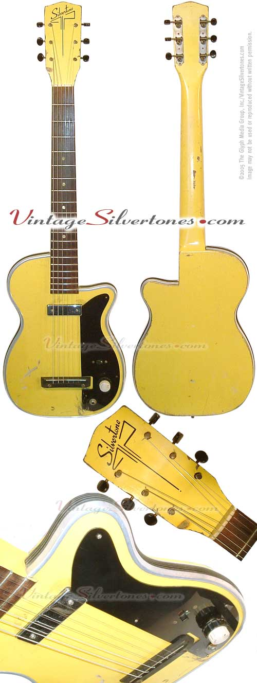 Silvertone-Harmony - model H41-Newport Sunshine Yellow solid body electric guitar