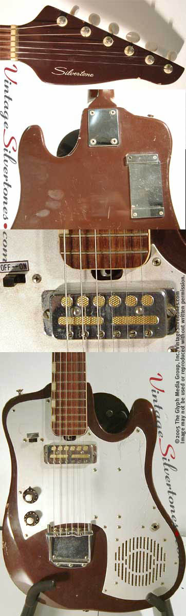 Silvertone TG1-details - Teisco Amp In Guitar
